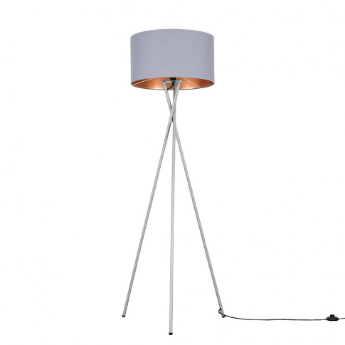 Camden Grey Tripod Floor Lamp With Xl Grey And Coppe...