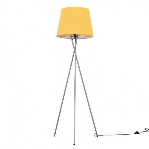 Camden Grey Tripod Floor Lamp With Xl Mustard Aspen ...