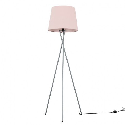 Camden Grey Tripod Floor Lamp With Xl Dusty Pink Asp...