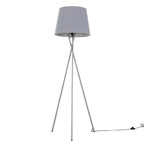 Camden Grey Tripod Floor Lamp With Xl Grey Aspen Shade