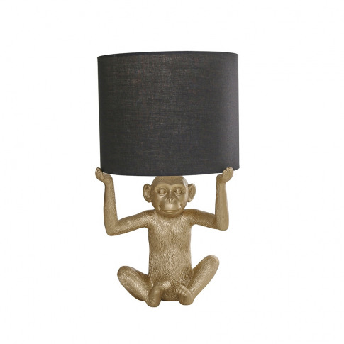 Max Monkey Holding A Shade In Gold With Black Reni S...