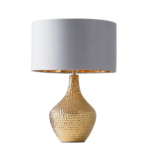 Bailey Gold Table Lamp With Warm Grey And Gold Reni ...