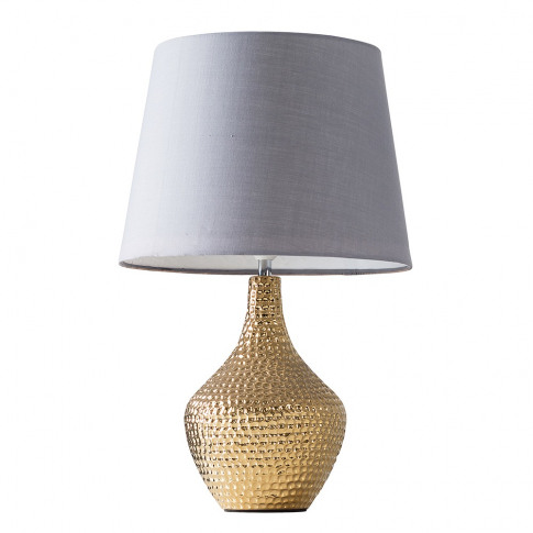 Bailey Gold Table Lamp With Large Grey Aspen Shade