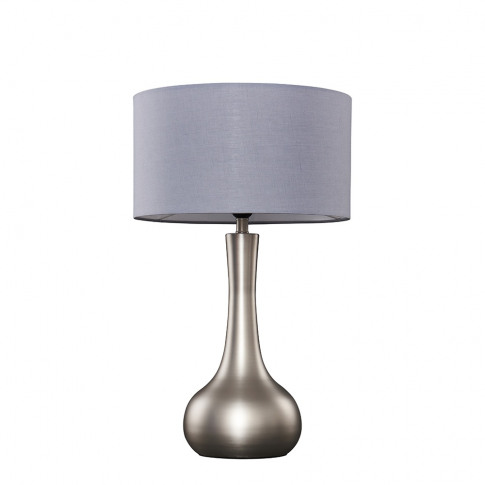 Laurin Large Brushed Chrome Table Lamp With Dark Gre...