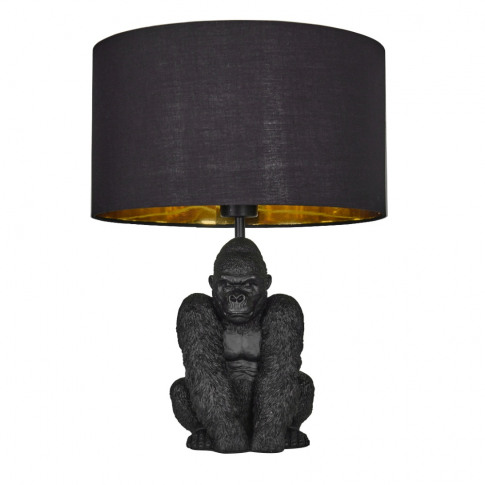 King Gorilla Table Lamp In Black With Black And Gold...