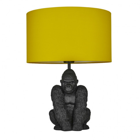 King Gorilla Table Lamp In Black With Mustard Reni S...