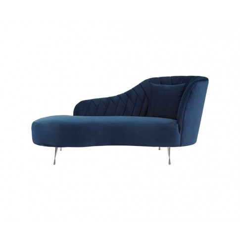 Wadin Dark Blue Velvet Right Arm Chaise Longue