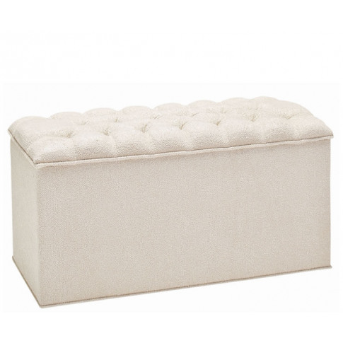 Adelphi Upholstered Traditional Ottoman Turin Ivory