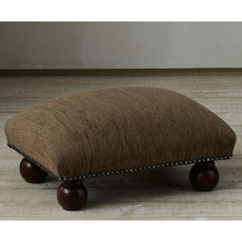 Strand Upholstered Footstool Turin Ivory Natural Beech