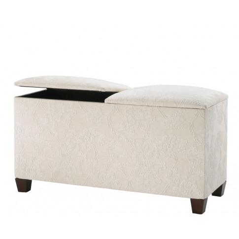 Normandy Upholstered Twin Lid Ottoman Gem Granite Eb...