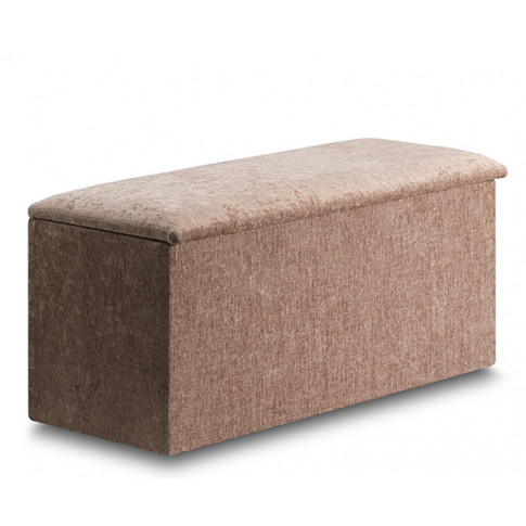 Aurela Faux Leather And Suede Ottoman Faux Leather B...