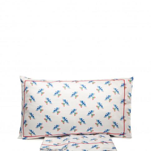 La Doublej King Size Gend - Sheet & Pillowcase Set Flying Colombo Bianco 100% Cotton