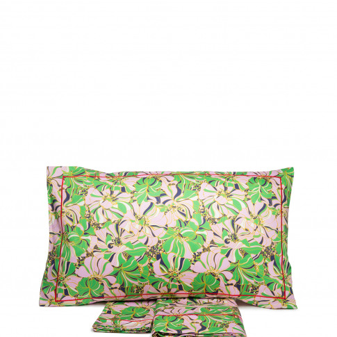 La Doublej Queen Size Gend - Sheet & Pillowcase Set Carnevale 100% Cotton