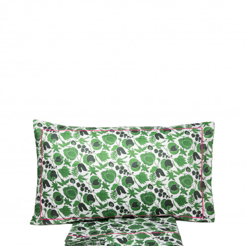 La Doublej King Size Gend - Sheet & Pillowcase Set Wildbird Verde Small 100% Cotton