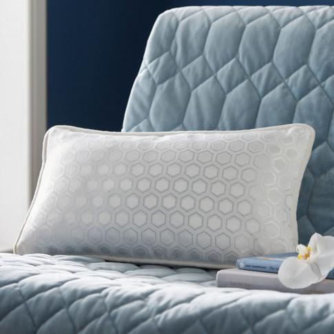 Tess Daly Hexagon Boudoir Cushion, White