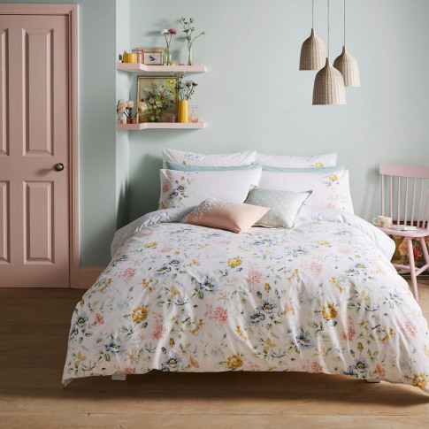 Cath Kidston Pembroke Rose Duvet Set, Double, White