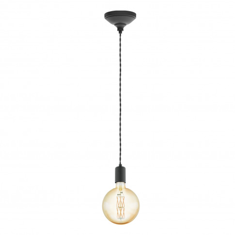 Eglo Yorth Ceiling Pendant Light, Black