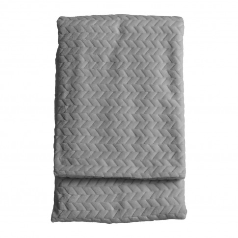 Gallery Embossed Chevron Throw, Silver