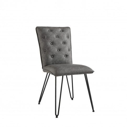 Casa Pair Of Studded Dining Chairs, Grey