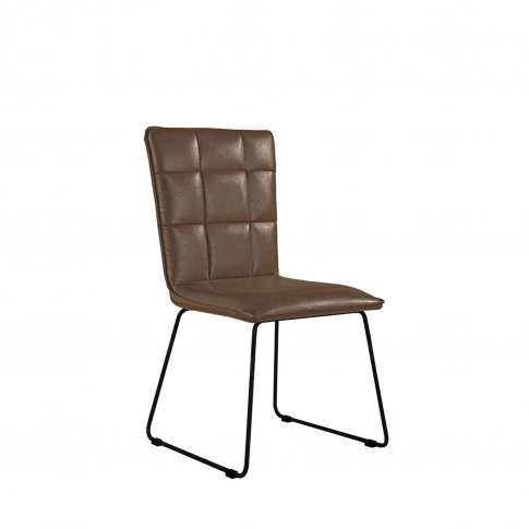 Casa Pair Of  Panel Dining Chairs,  Brown