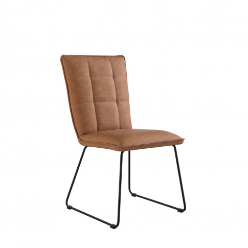 Casa Pair Of Panel Dining Chairs, Tan
