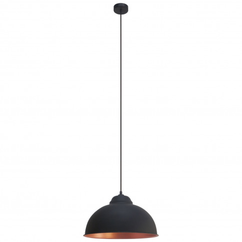 Eglo Truro Pendant Light, Black & Copper