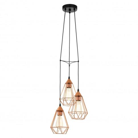Eglo Tarbes Pendant Light, Black & Copper