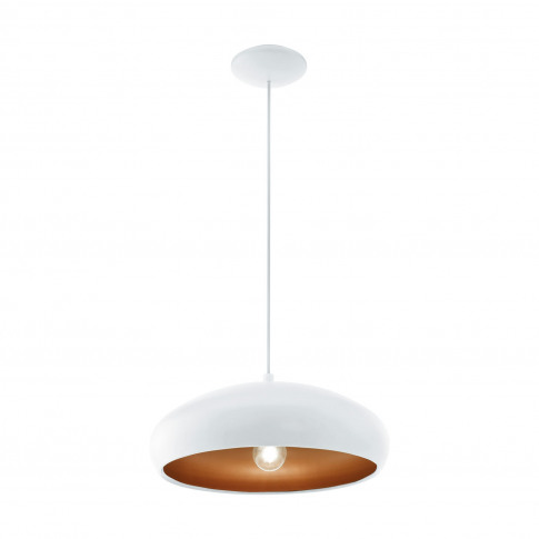 Eglo Mogano Pendant Light, White & Copper