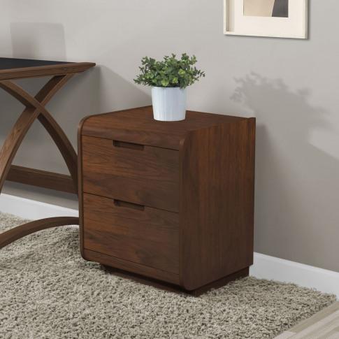 Jual Universal 2 Drawer Pedestal Cabinet - Walnut