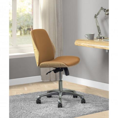 Jual Universal Swivel Office Chair - Oak