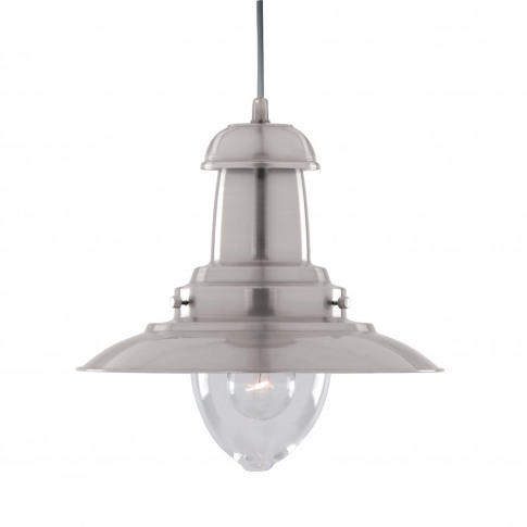 Searchlight Fisherman Pendant Light, Satin Silver