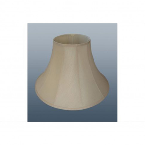 "12"" Cotton Bell Lamp Shade, Cream"