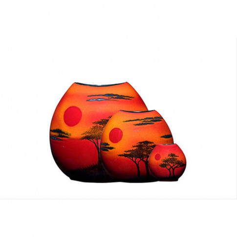 Poole Pottery African Sky Purse Vase 20cm