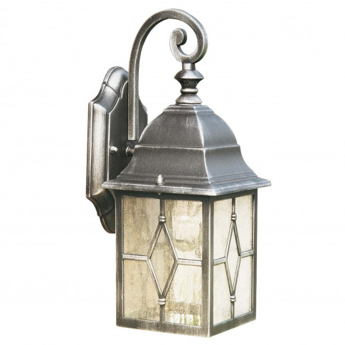 Searchlight Lantern Wall Light, Silver