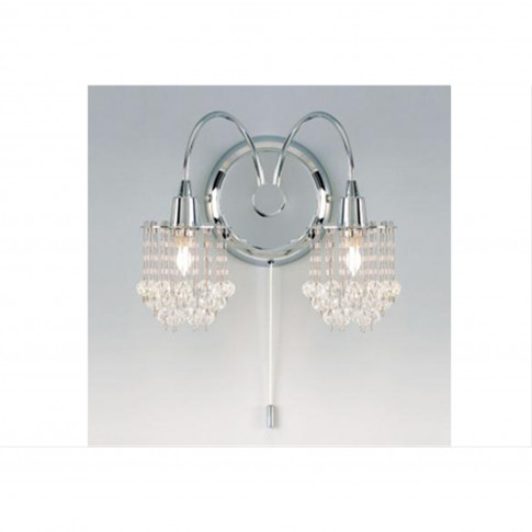 Crystal Drop Wall Light, Chrome