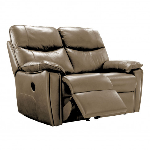 G Plan Henley 2 Seater Left Manual Recliner Leather ...