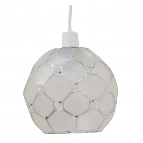 Capiz Shell Polygon Jewelled Ceiling Lamp Shade