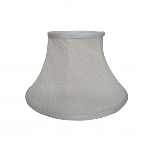 "16"" Twisted Pleat Lamp Shade, Cream"