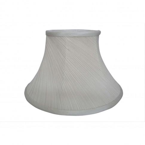 "16"" Twisted Pleat Lamp Shade, Cream"