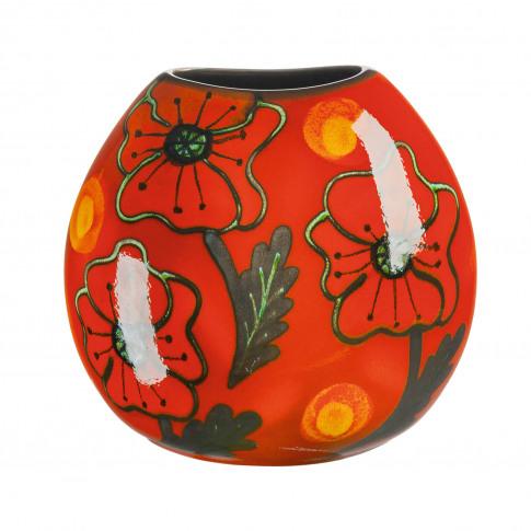 Poole Pottery Purse Vase,  Poppy Field