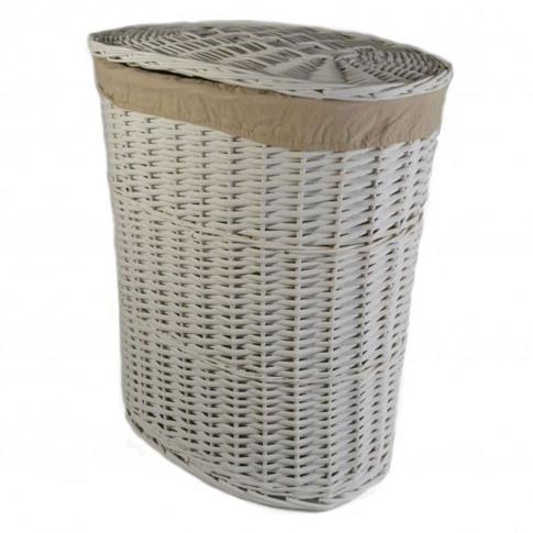 Casa Willow Laundry Basket, Large, White