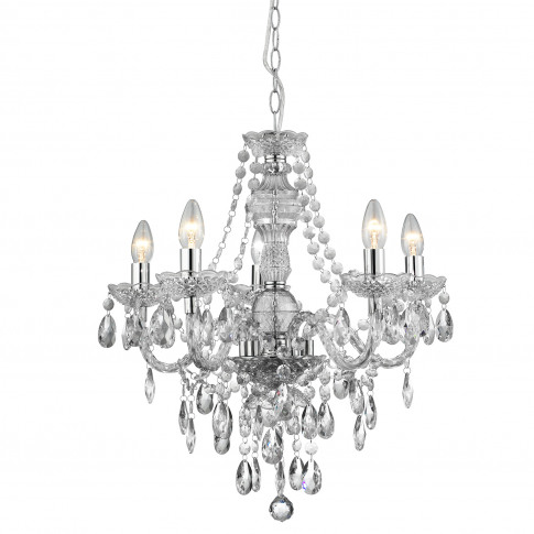 Searchlight Marie Therese 5 Light Chandelier