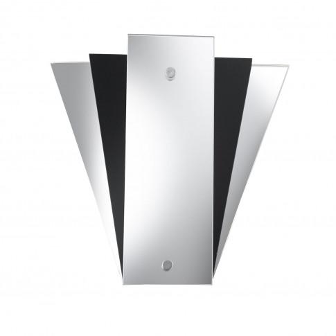 Searchlight Art Decco Wall Light, Black