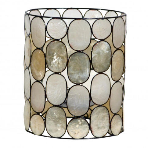 Capiz Shell Cylinder Ceiling Lamp Shade, Small