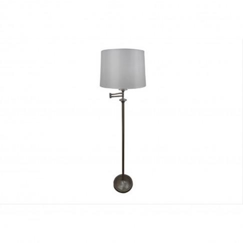 Mellion Swing Arm Floor Lamp, Satin Nickel