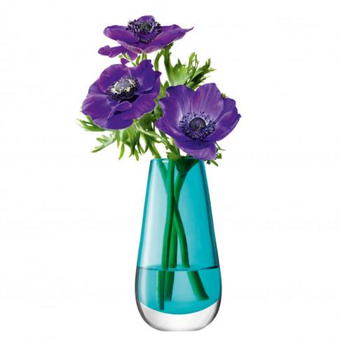 Lsa Flower Bud Vase, 14cm, Peacock