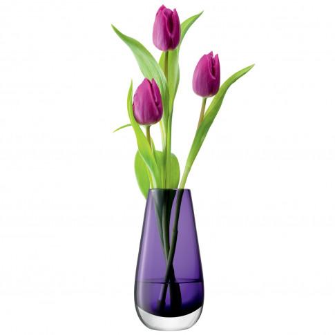 Lsa Flower Bud Vase, 14cm, Violet