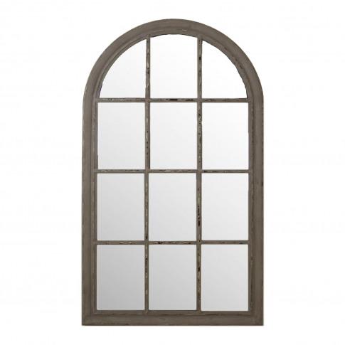 Casa Arch Window Mirror, Grey