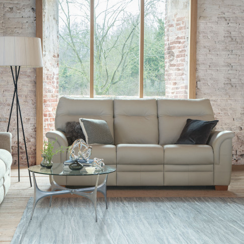 Parker Knoll Hudson 3 Seater Leather Sofa