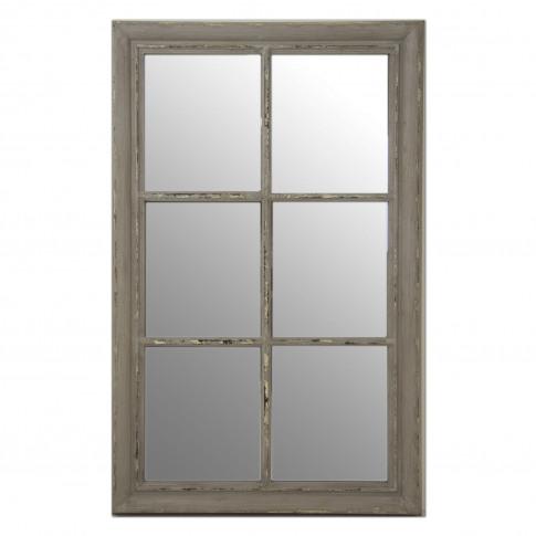 Casa Rust Effect Framed Window Mirror